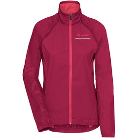 VAUDE Windoo Pro Zip Off Jacket Women, crimson red
